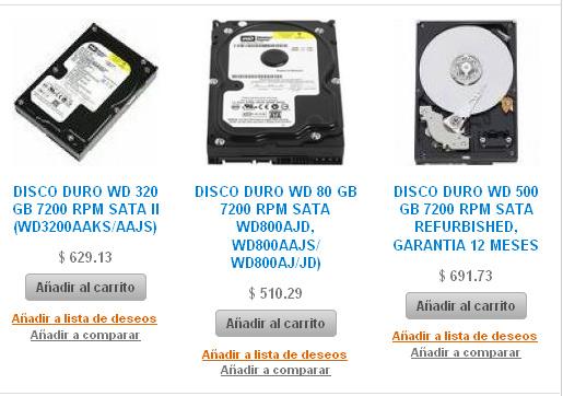 venta de discos duros en linea, discos duros de marca